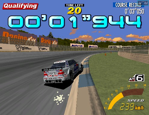 In-game screen of the game Sega Touring Car Championship on Model 2