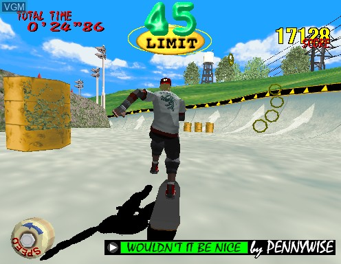 In-game screen of the game Top Skater on Model 2