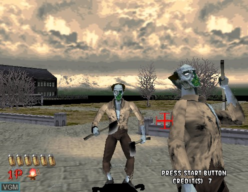 In-game screen of the game House of The Dead, The on Model 2