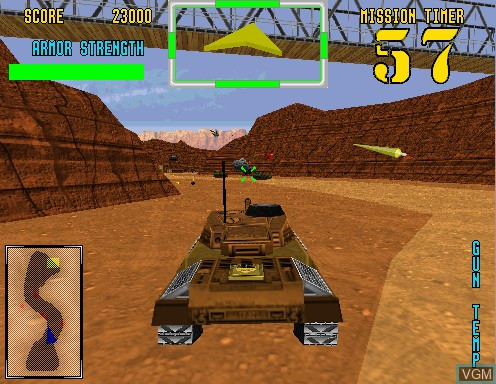 In-game screen of the game Desert Tank on Model 2