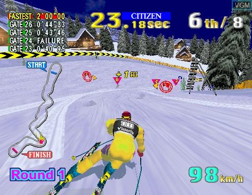 In-game screen of the game Sega Ski Super G on Model 2