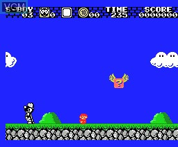 In-game screen of the game Super Boy III on MSX