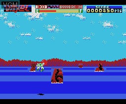 In-game screen of the game Vaxol - Heavy Armed Storm Vehicle on MSX
