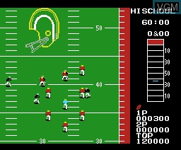 In-game screen of the game 10 Yard Fight on MSX