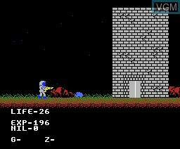 In-game screen of the game A Life M36 Planet on MSX