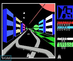 In-game screen of the game A.E. on MSX