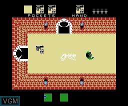 In-game screen of the game Alcazar - The Forgotten Fortress on MSX