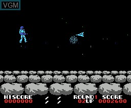 In-game screen of the game Alpha Roid on MSX