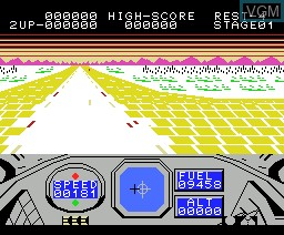 In-game screen of the game Alpha Squadron on MSX