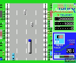 In-game screen of the game American Truck on MSX