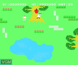 In-game screen of the game Anty on MSX
