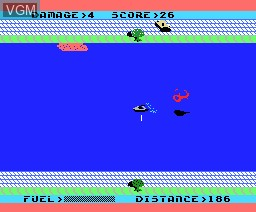 In-game screen of the game Aquattack on MSX