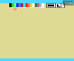 In-game screen of the game Farm Kit on MSX