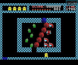 In-game screen of the game Flappy Limited on MSX