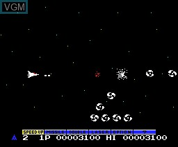 In-game screen of the game Nemesis - Gradius on MSX