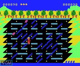 In-game screen of the game O'mac Farmer on MSX