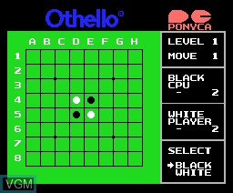 In-game screen of the game Othello on MSX