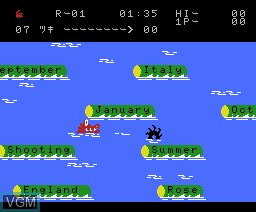 In-game screen of the game Oyoide Tango on MSX