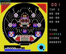 In-game screen of the game Pachi Com on MSX