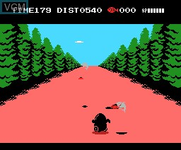 In-game screen of the game Penguin Adventure on MSX