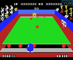 In-game screen of the game Penguin Kun Wars on MSX
