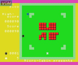 In-game screen of the game Pico Pico on MSX