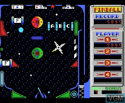 In-game screen of the game Pinball Blaster on MSX