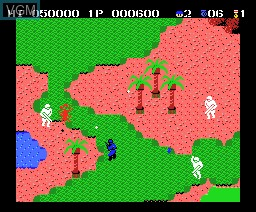 In-game screen of the game Senjyo No Ookami on MSX