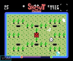 In-game screen of the game Shout Match on MSX