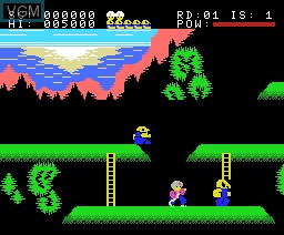 In-game screen of the game Sinbad on MSX