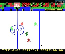 In-game screen of the game Slapshot on MSX