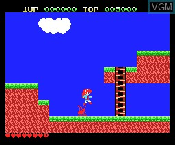 In-game screen of the game Sofia on MSX