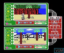 In-game screen of the game Spy Vs Spy II on MSX