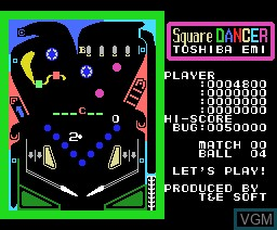 In-game screen of the game Square Dancer on MSX