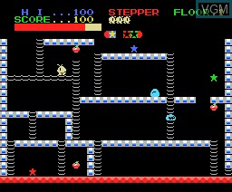In-game screen of the game Stepper on MSX