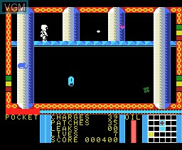 In-game screen of the game Strange Loop on MSX