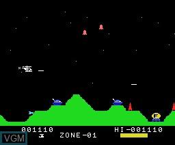 In-game screen of the game Super Cobra on MSX