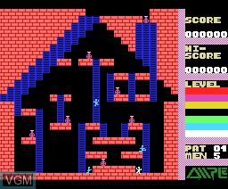 In-game screen of the game Super Drinker on MSX