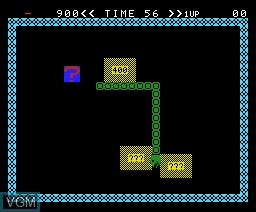 In-game screen of the game Super Snake on MSX