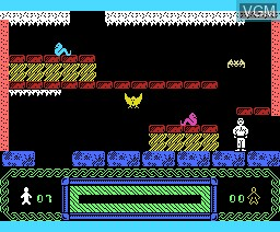 In-game screen of the game Tension on MSX