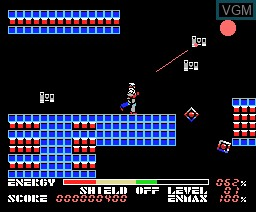 In-game screen of the game Thexder on MSX