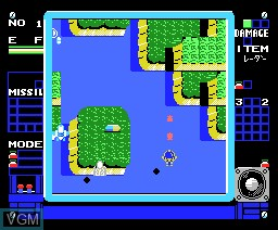 In-game screen of the game Topple Zip on MSX