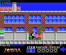 In-game screen of the game Valis - The Fantasm Soldier on MSX