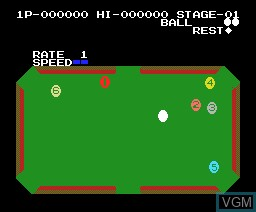 In-game screen of the game Video Hustler on MSX