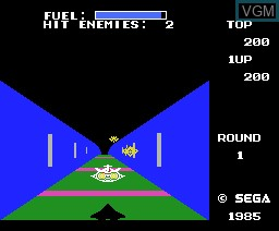 In-game screen of the game Zoom 909 on MSX