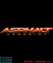 Title screen of the game Asphalt - Urban GT on Nokia N-Gage