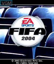 Title screen of the game FIFA Football 2004 on Nokia N-Gage