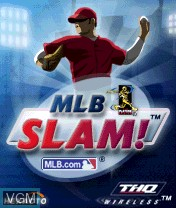 Title screen of the game MLB Slam! on Nokia N-Gage