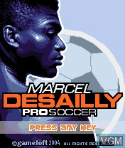 Title screen of the game Marcel Desailly Pro Soccer on Nokia N-Gage