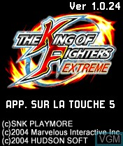 Title screen of the game King of Fighters Extreme, The on Nokia N-Gage